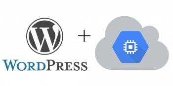 Google cloud platform on wordpress