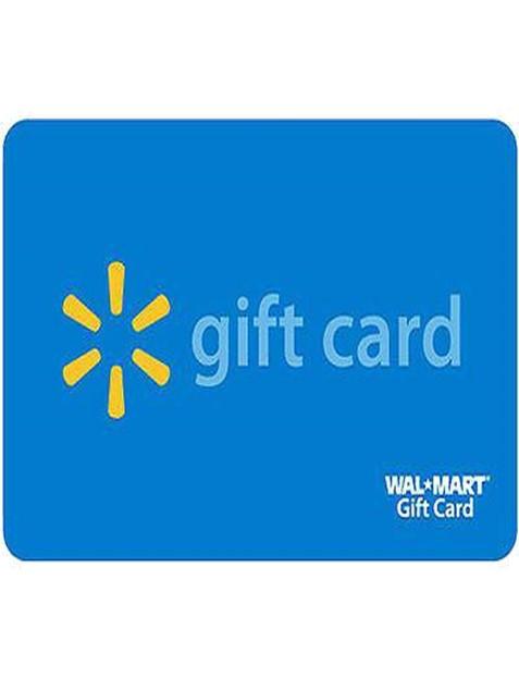 Walmart Christmas gift card