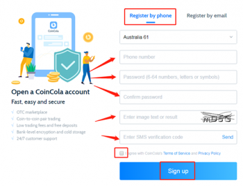 Coincola best Crytocurreny exchange sign up