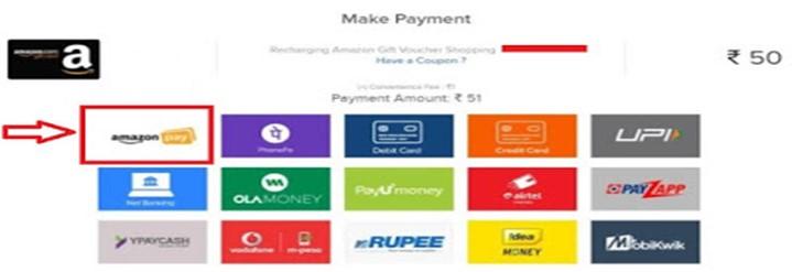 Amazon gift card balance make payment