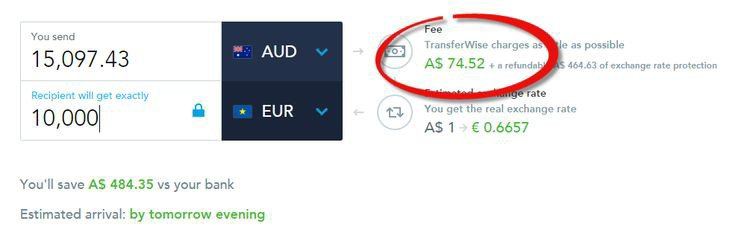 Transferwise Transaction fees
