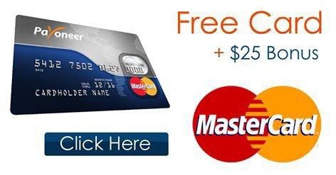 Sign Up For Payoneer Mastercard Today And Get A $25 Reward!