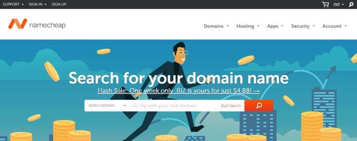 Namecheap domain host