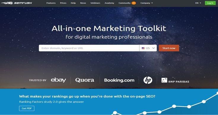 Smrush Analytics marketing toolkit