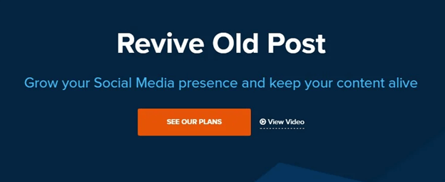Revive Social auto publish WordPress posts on social media
