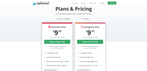 Tailwind Tribes App pricing