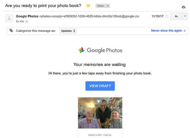 Google Abandonment Cart Email Template