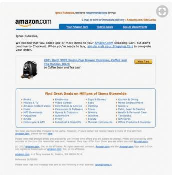 amazon Abandonment Cart Emails Templates