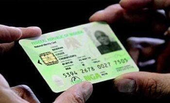 National identity card fees