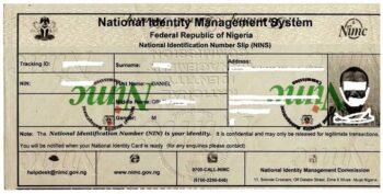 Temporary National Identity Card