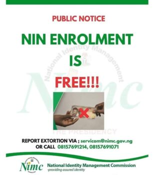 National identity card fees and free