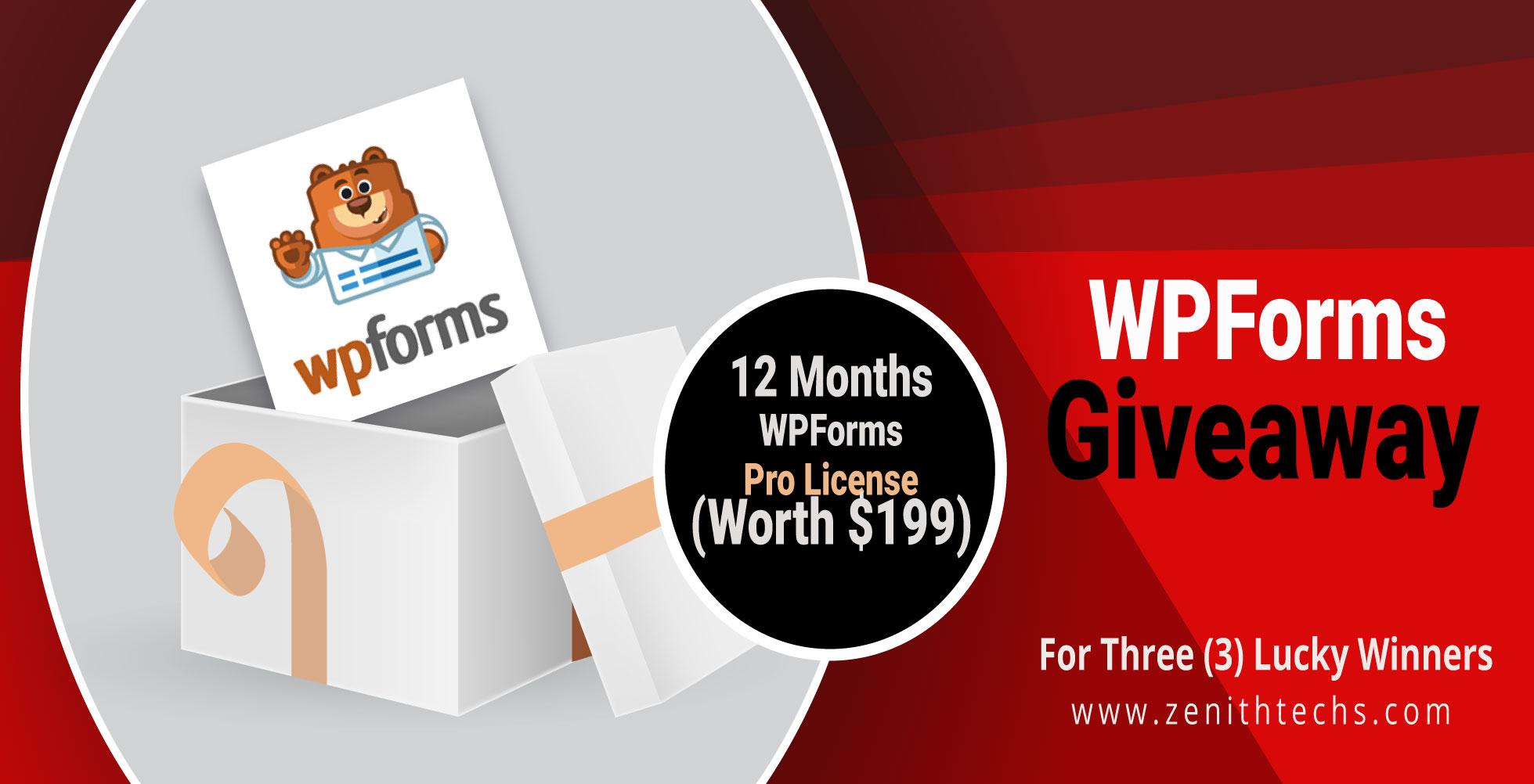WPForms Giveaway for wordpress