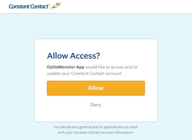 Constant Contact account