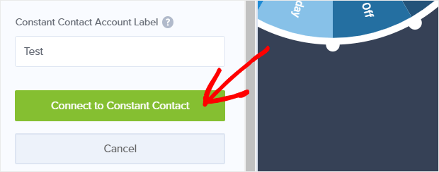 Connect to Constant Contact.