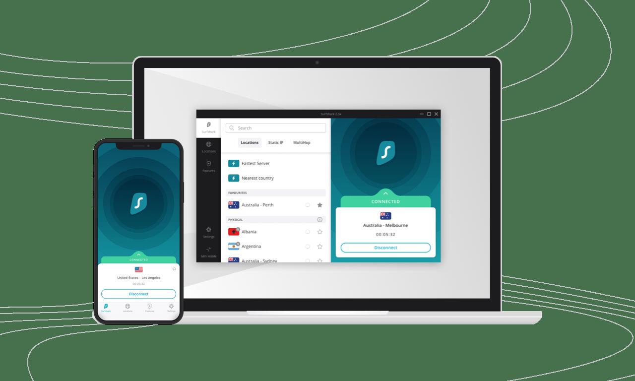 Surfshark VPN For Mobile devices and Windows