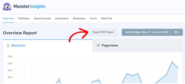 export Google Analytics Reports to pdf