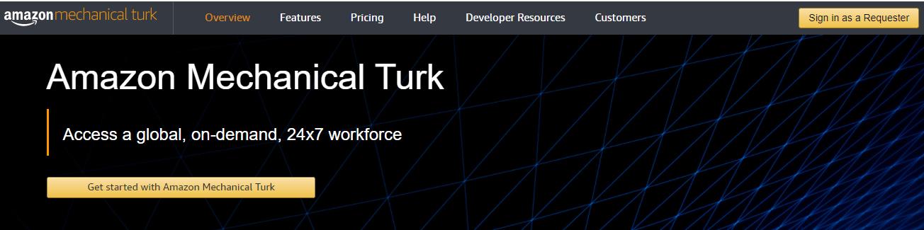 Amazon Mechanical Turk to earn gift cards