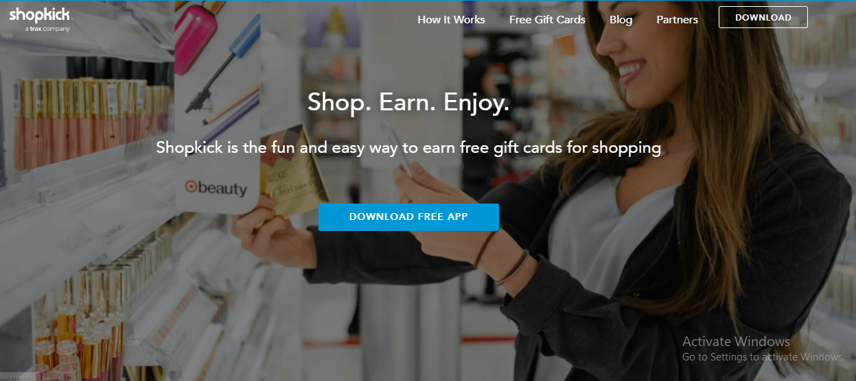 Download the ShopKick app to earn Amazon gift cards