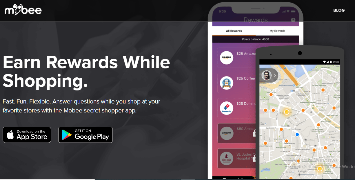 Download Mobee app to earn gift cards