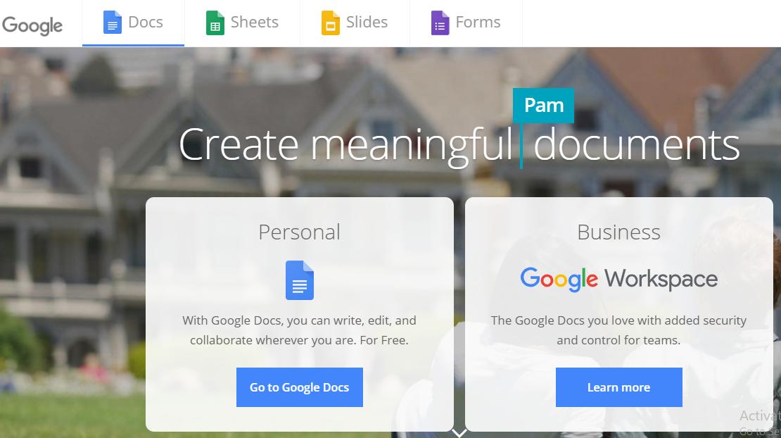 Google Docs Free Online Pdf Editor