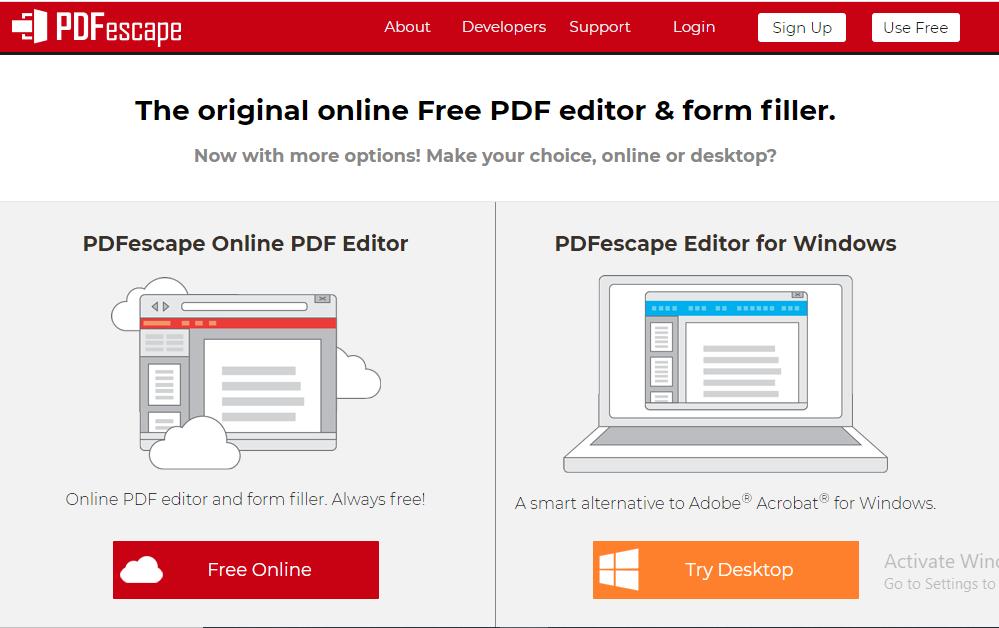 PDF escape Free Online Pdf Editor