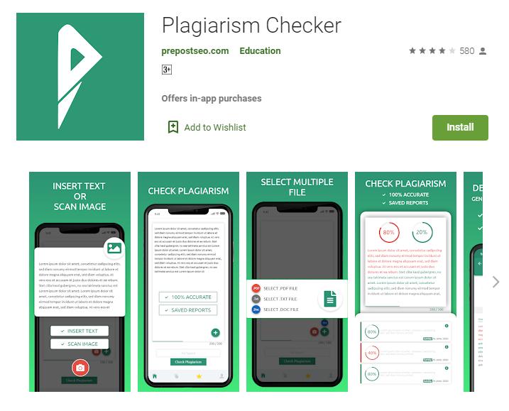 Prepostseo plagiarism checker