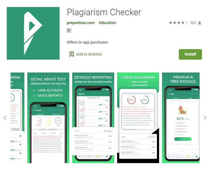 Prepostseo plagiarism checker for mobile