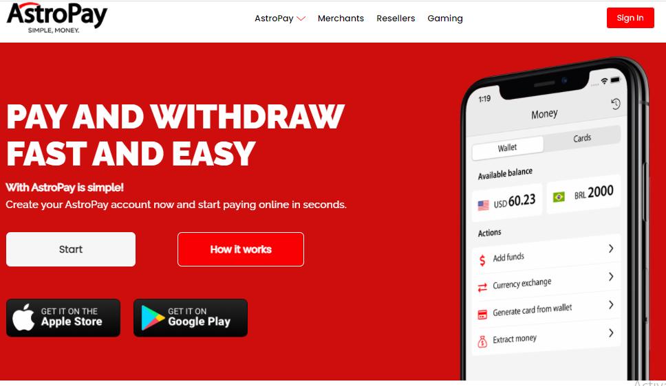 Astropay - Virtual Prepaid Card