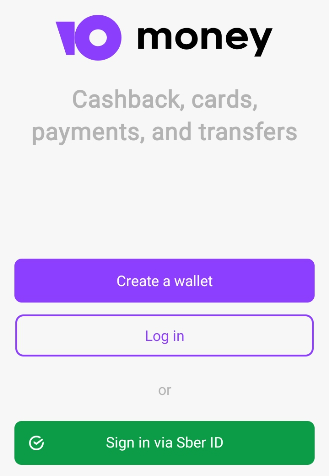 Create account on YooMoney to generate free Virtual credit card