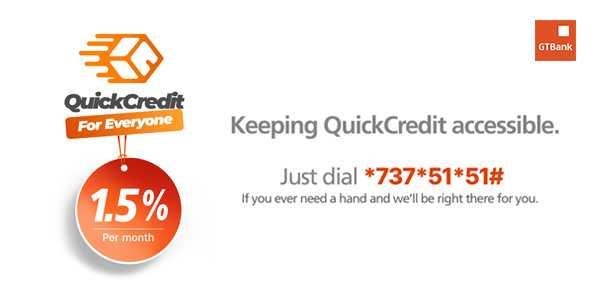 Gtbank Quick Credit Quick Personal Loans