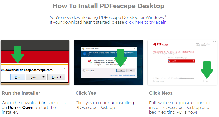 Download and install the PDFescape software on your laptop or desktop computer.