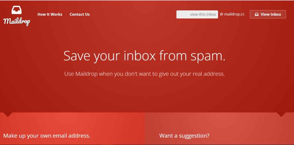 MailDrop temporary email address
